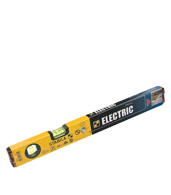 Уровень  43 см 2 глазка тип 70 для электрика Stabila Профи