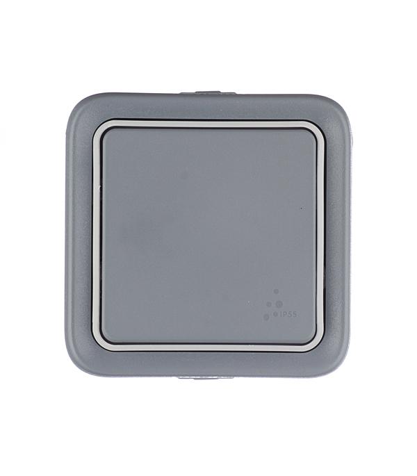 Переключатель одноклавишный Legrand Plexo о/у влагозащищенный IP55 серый
