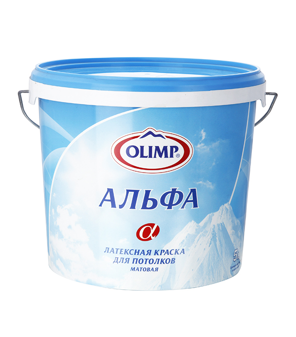Краска в/д  для потолка латексная Альфа Olimp 5 л