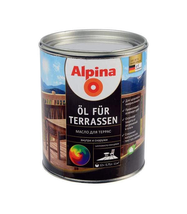 Масло для террас Alpina Oel fuer Terrassen 0,75 л