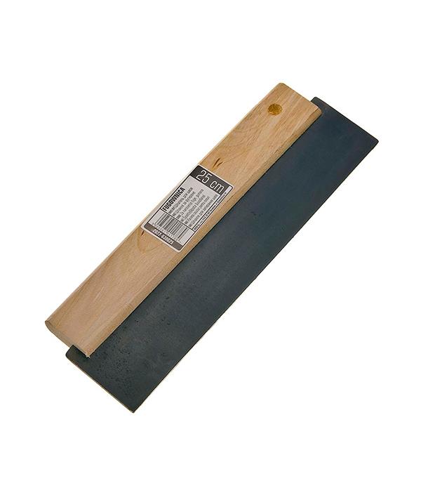 Шпатель 250 мм (черная резина) для затирания швов