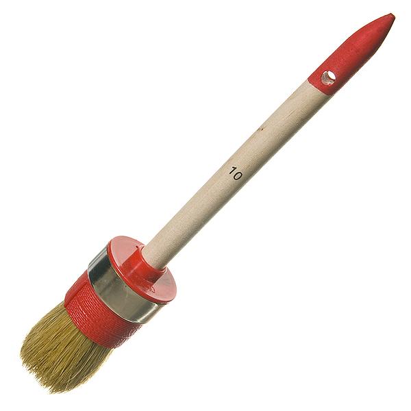 Кисть круглая 40 мм натуральная щетина деревянная ручка Hardy Стандарт