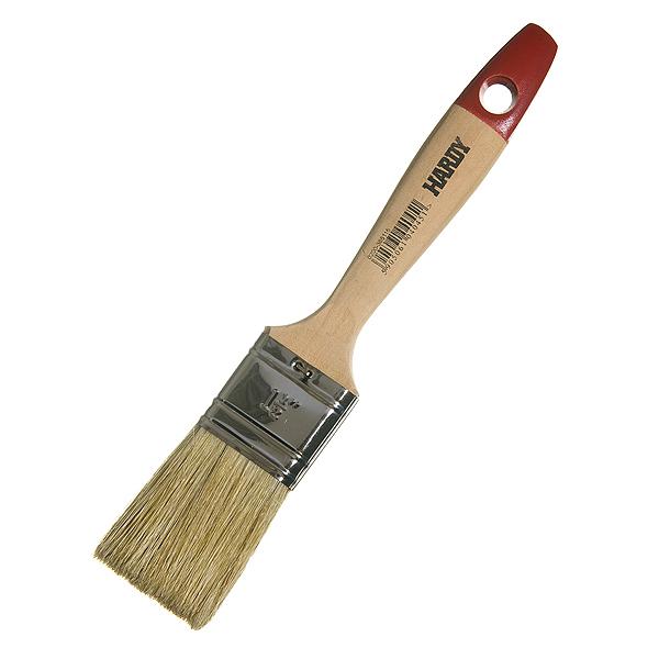 Кисть плоская  38 мм натуральная щетина деревянная ручка Hardy Стандарт