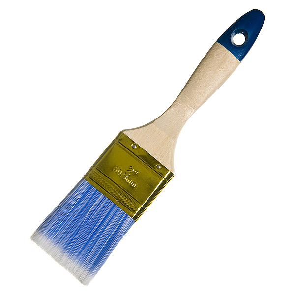 Кисть плоская  50 мм смешанная щетина деревянная ручка Hardy Стандарт