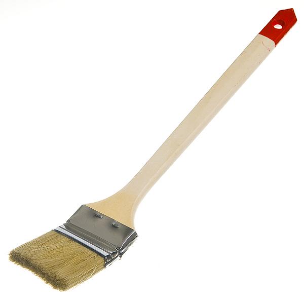 Кисть радиаторная 63 мм  натуральная щетина деревянная ручка Hardy Стандарт
