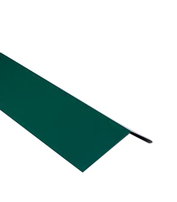 Планка карнизная для битумной черепицы 2 м зеленая RAL 6005  планка карнизная для металлочерепицы 80х100 мм 2м зеленая ral 6005