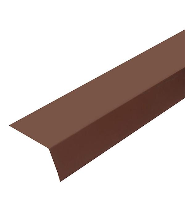 Планка карнизная для битумной черепицы 2 м коричневая RAL 8017