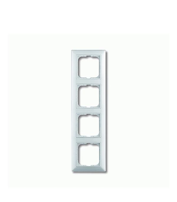 Рамка четырехместная АВВ Basic 55 альпийский белый