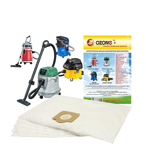 Мешок дляпылесосаOZONE MXT-3041/5(5шт) мешки для пылесоса аксэл mtx 3041 3