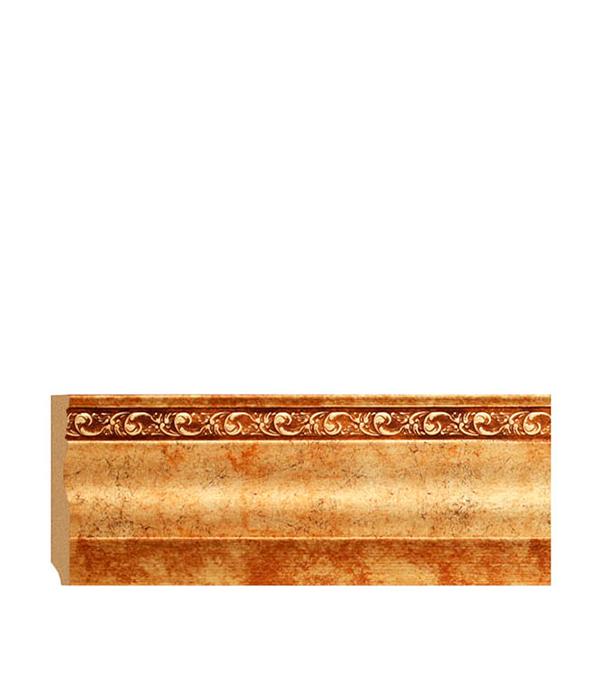 Напольный плинтус (молдинг) с к/к 95х12х2400 мм Decomaster античное золото