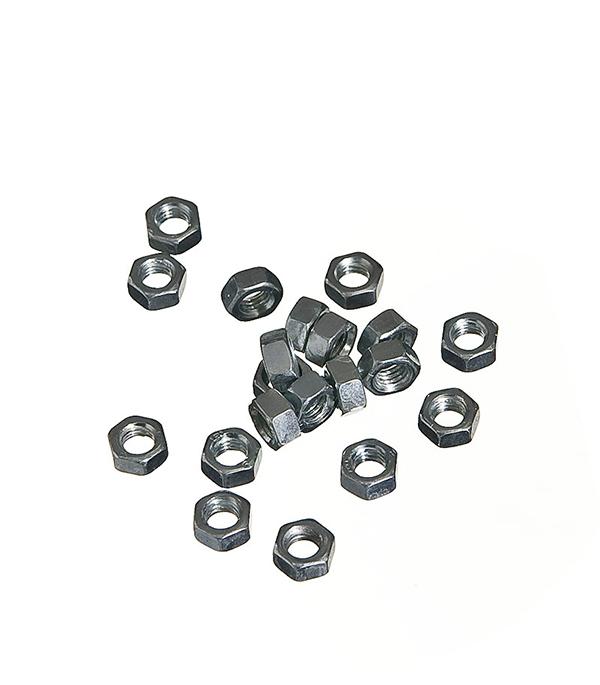 Гайки оцинкованные М5 DIN 934 (20 шт)  гайки оцинкованные м22 din 934 6 шт