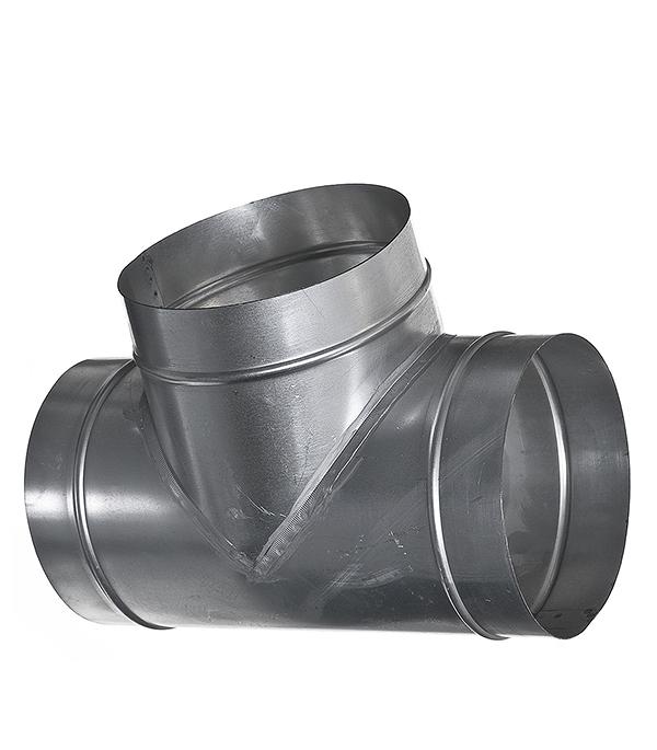 Тройник для круглых воздуховодов оцинкованный d200 мм 90° профиль оцинкованный для теплиц
