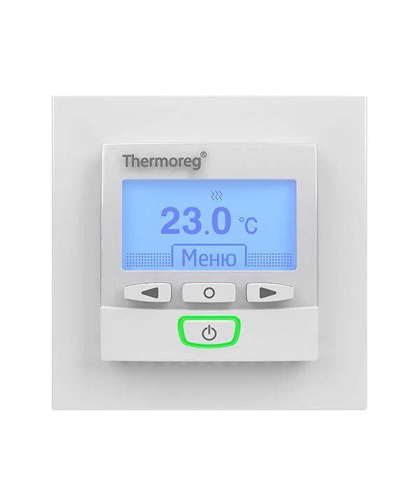 Терморегулятор программируемый для теплого пола  Thermoreg TI 950 Design терморегулятор для теплого пола теплолюкс тс 201 белый