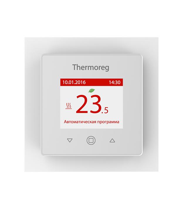 Терморегулятор прогруммируемый для теплого пола Thermoreg TI 970 White БЕЛЫЙ терморегулятор для теплого пола теплолюкс тс 201 белый