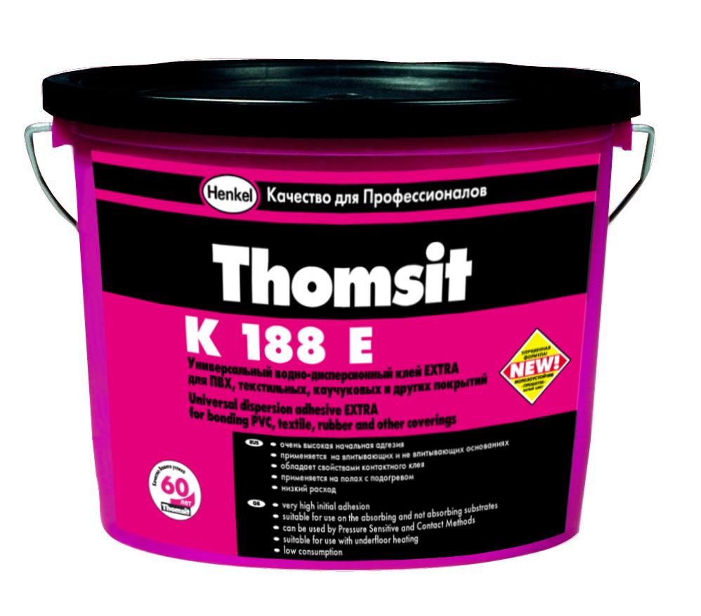 Клей для напольных ПВХ покрытий Thomsit K 188 E 12 кг