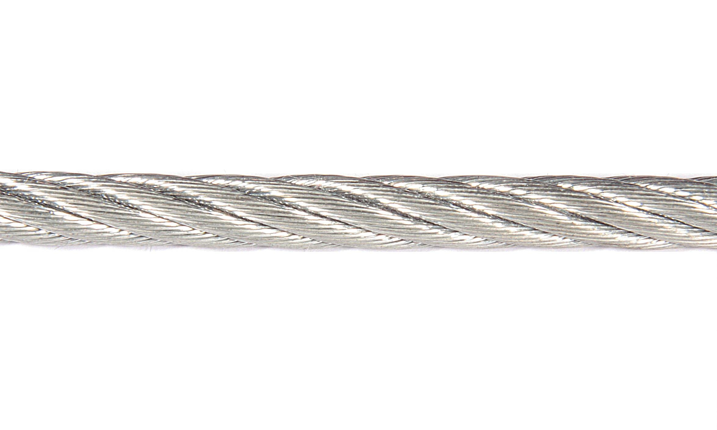 Трос стальной оцинкованный d6 мм DIN 3055