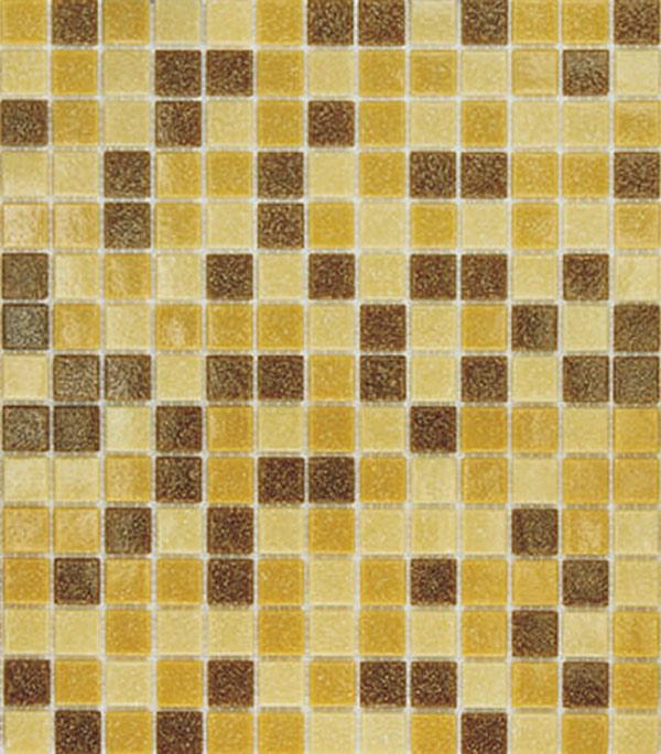 Мозаика стекломасса 327х327х4 мм темно-песочный микс на сетке (10 шт = 1,07 кв.м)