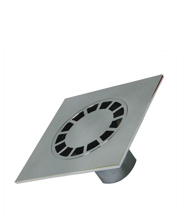 Трап прямой металлический 150х150, 50 мм (гидрозатвор)