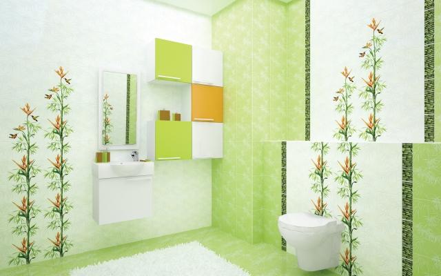 Плитка облицовочная 250x350х7 мм Джунгли зеленый (16шт=1,4 кв.м)