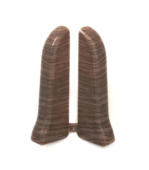 Заглушки торцевые (левая+правая) Дуб темный 67 мм