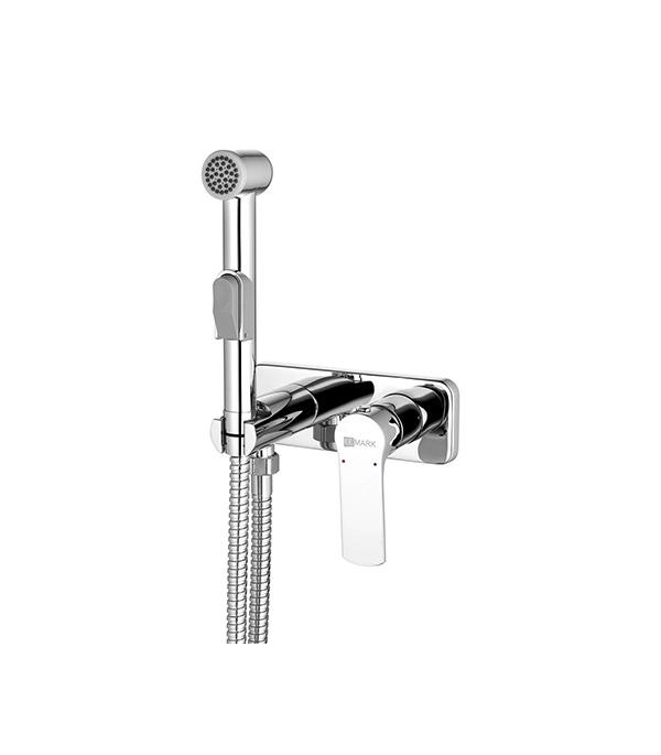 Смеситель с гигиеническим душем LEMARK GRACE LM1519C встраиваемый со скрытой частью в комплекте смеситель с душем недорого купить
