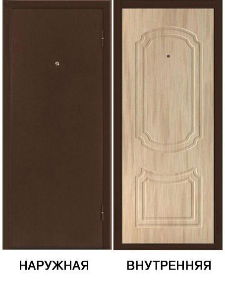Дверь металлическая ФОРТ-3 980x2050 мм правая, без ручки
