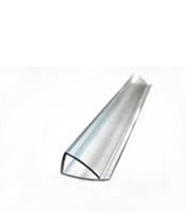 Профиль для поликарбоната торцевой П-образный 4 мм 2100 мм  цена и фото
