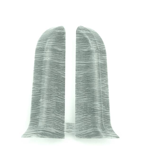 Заглушки торцевые (левая+правая) Дуб пепельный 55 мм