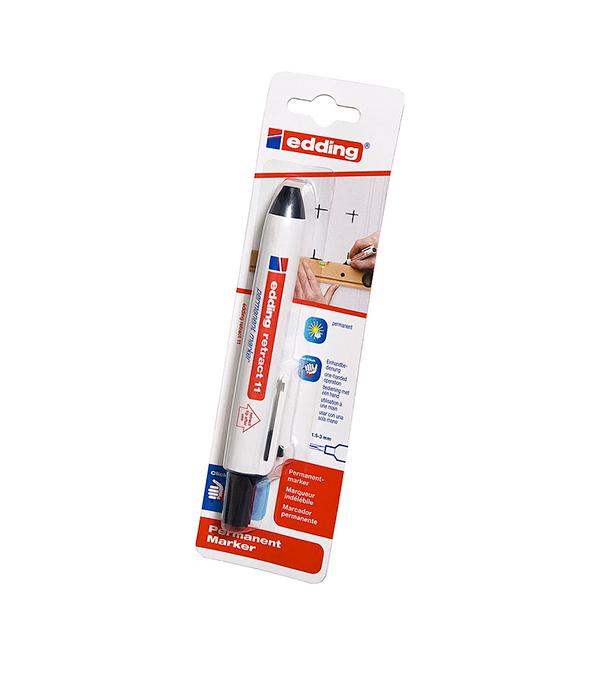 Перманентный маркер Edding retract 11 черный 1.5-3 мм маркер белый для изделий из резины шин 2 4 мм edding 8050