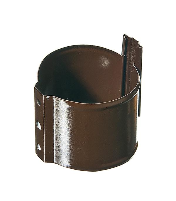 Кронштейн хомут трубы на кирпичную стену Grand Line d90 мм коричневый металлический с крепежом угол желоба внутренний grand line 125 90° красное вино металлический