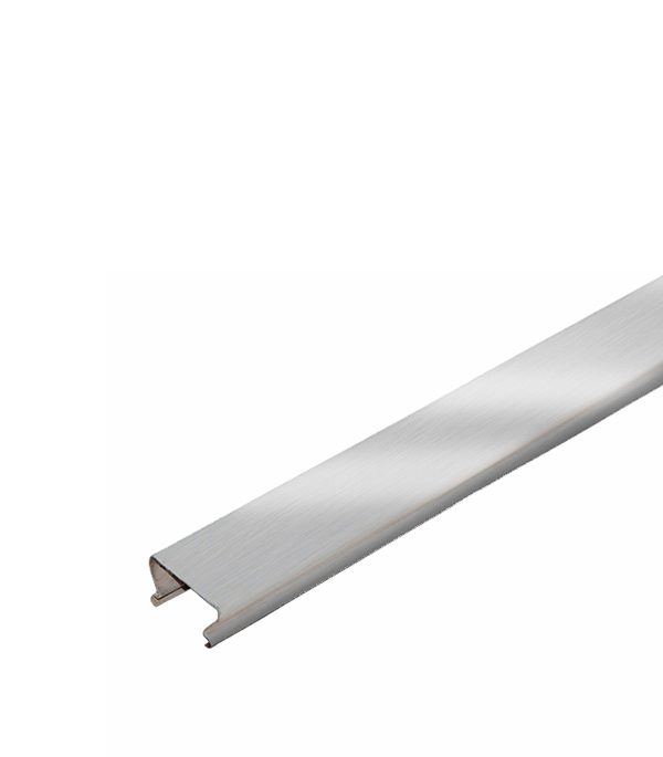 Рейка сплошная S-дизайн Албес A25AS 3 м серебристый металлик