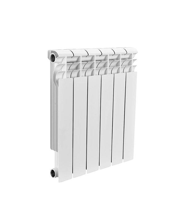 Радиатор биметаллический 1 Rommer Profi 500, 6 секций радиатор отопления rommer optima bm 500 биметаллический 8 секций