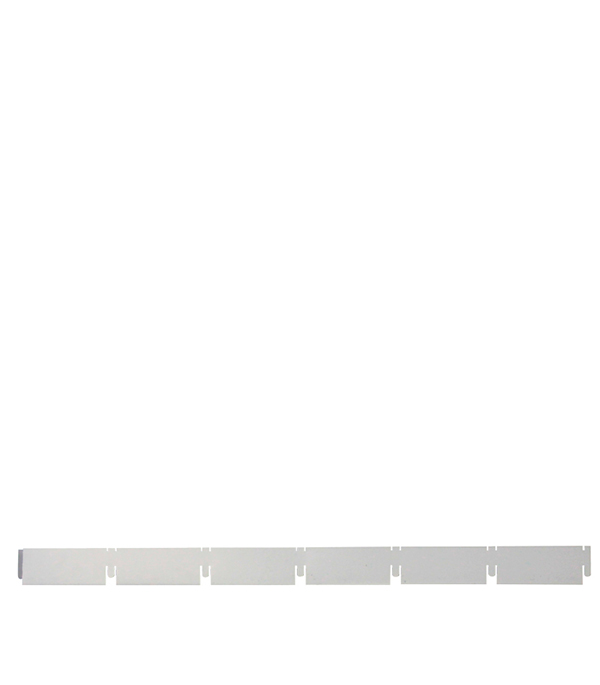 Рейка направляющая 100х100 мм серый металлик 2,40 м Грильято