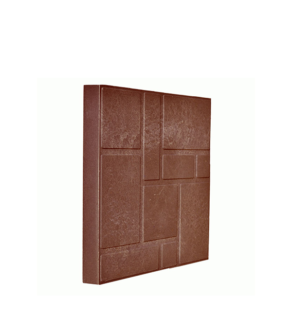 Плитка тротуарная полимерно-песчаная 330х330х38 мм красно-коричневая