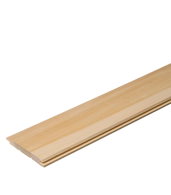 Вагонка Осина сорт В 12,5х96х2400 мм (S общ.= 2,304 кв.м, S раб.= 2,112 кв.м)