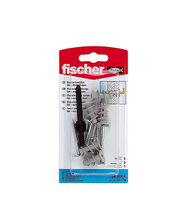 Дюбель для листовых материалов GK с прямым крюком (5 шт.) нейлон Fischer