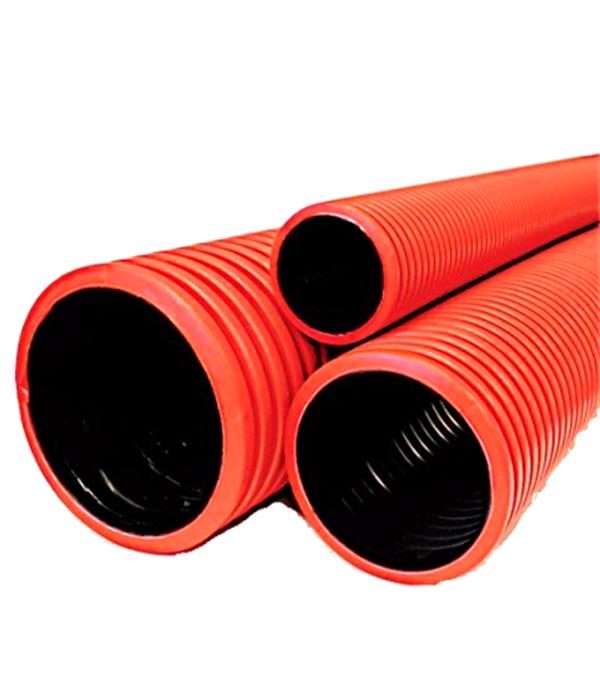 Двустенная труба гофрированная d110 мм отвод для дренажных труб d110 на 90 градусов