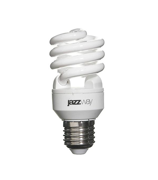 Лампа энергосберегающая E27, 15W, Spiral , 4000K (холодный свет), Jazzway