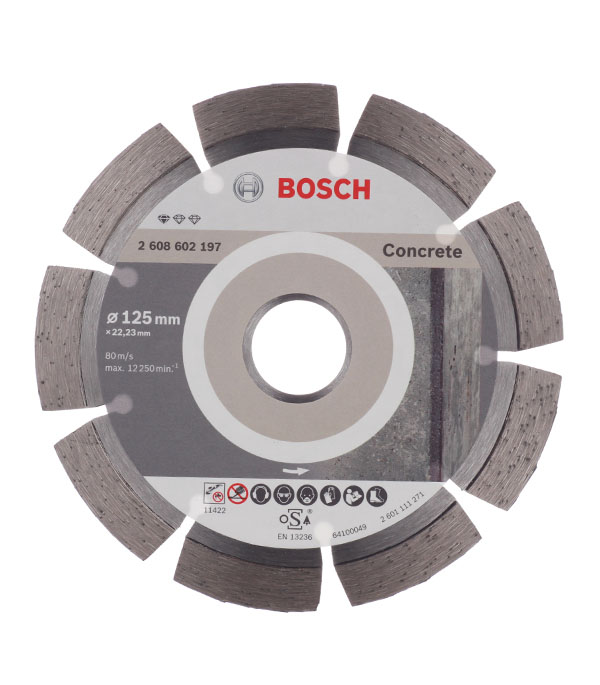 Диск алмазный сегментный по бетону Bosch Professional 125х22.2 мм диск алмазный сегментный по бетону 125x22 23 baumesser