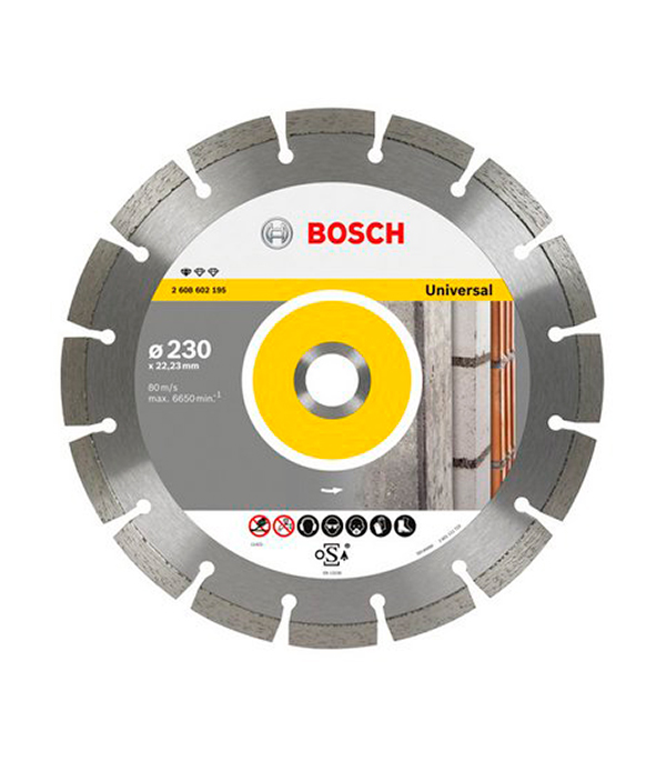 Диск алмазный сегментный универсальный 115х22,2 мм Bosch Профи