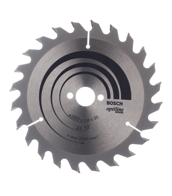 Диск пильный Bosch Optiline 160х24х20/16 мм диск пильный 190х24х30 мм optiline bosch профи