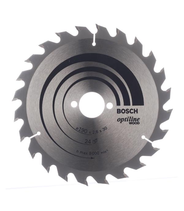 Диск пильный Bosch Optiline 190х24х30 мм диск пильный bosch optiline 2608640610