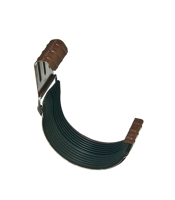 Соединение желоба Grand Line 125 мм коричневое металлическое кронштейн крюк желоба металлический 70 мм коричневый grand line