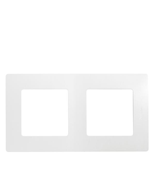 Рамка двухместная универсальная  Legrand Etika белая рамка legrand etika с защитной крышкой ip44 белый 672550