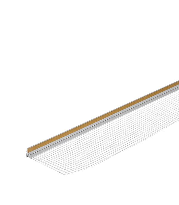 Профиль примыкания оконный самоклеящийся с сеткой (пластиковый) 9 мм, 2,4 м