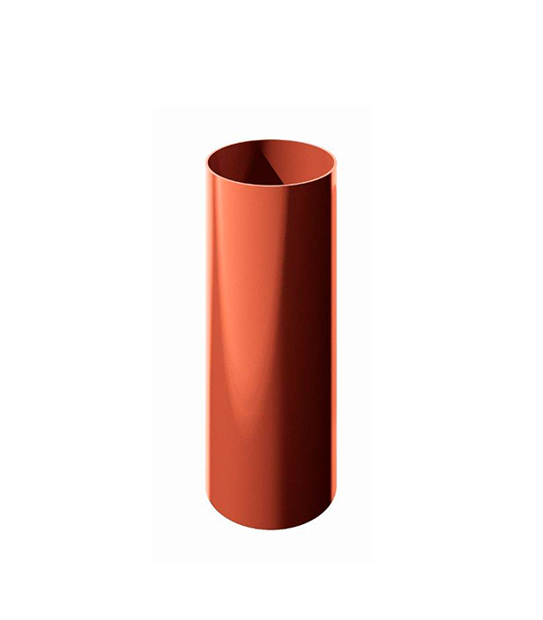 Труба водосточная пластиковая d90 мм красная 3 м Технониколь