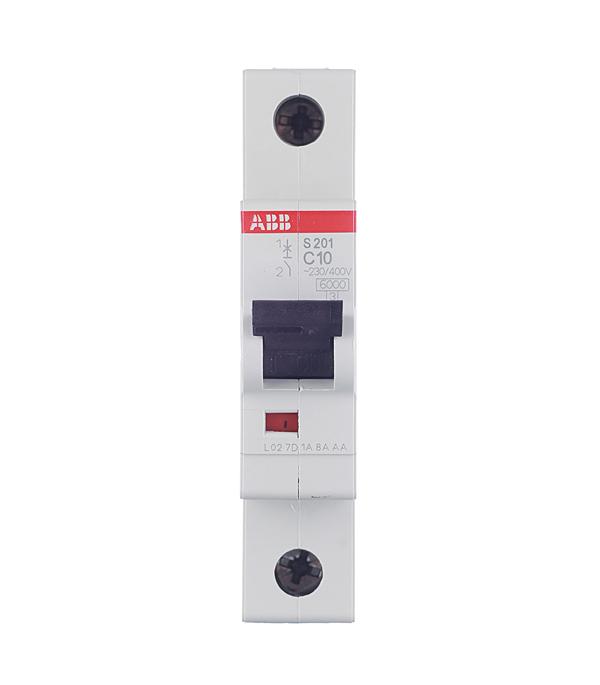 Автомат 1P 10А тип С 6 kA ABB S201