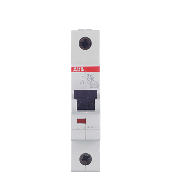 Автомат 1P 16А тип С 6 kA ABB S201 дифференциальный автомат 1p n 16а тип c 30 ма 4 5 ka abb dsh941r