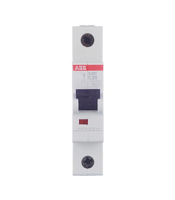 Автомат 1P 20А тип С 6 kA ABB S201 дифференциальный автомат 1p n 16а тип c 30 ма 4 5 ka abb dsh941r