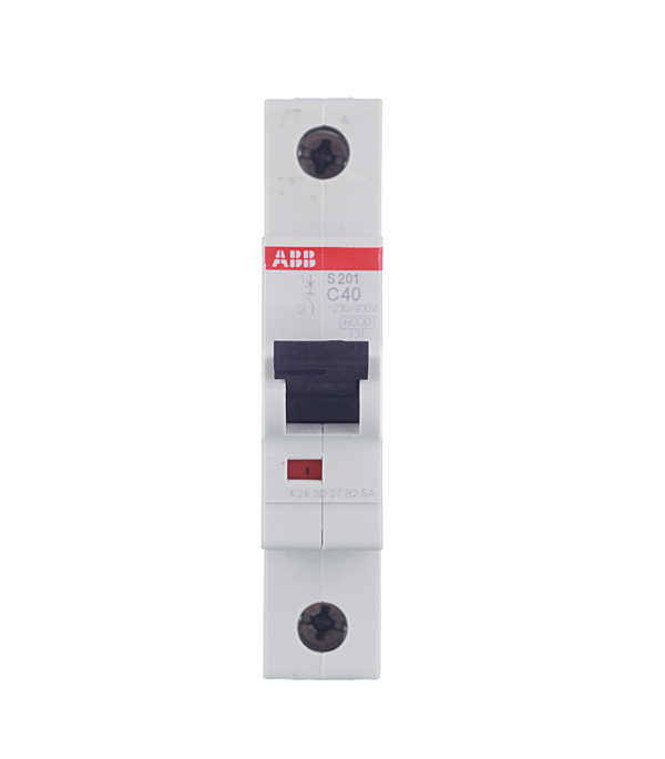 Автомат 1P 40А тип С 6 kA ABB S201 дифференциальный автомат 1p n 16а тип c 30 ма 4 5 ka abb dsh941r